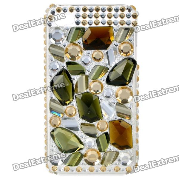 Stylish Acrylic Diamond Protective Plastic Back Case for Iphone 4 / 4S - Multi-color