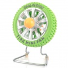 Tire Style USB Rechargeable 3-Blade Fan - Green