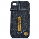 Creative Jeans Style Protective Back Case for Iphone 4 / 4S - Dark Blue