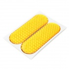 Glaring Reflective Epoxy Car Sticker - Yellow (Pair)