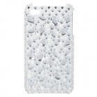 Stylish Protective Crystal Plastic Back Case for Iphone 4 / 4S - Transparent White + Silver