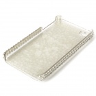 Fashion Protective CrystalPlastic Back Case for Iphone 4 / 4S - White