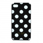 Simple Dots Pattern ABS Back Case for Iphone 4 / 4S - Black + White
