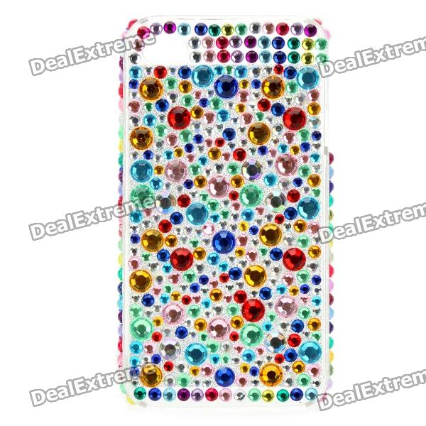 Shining Colorful Rhinestone Plastic Back Case for Iphone 4 / 4S планшет apple ipad 9 7 32gb серый wi fi bluetooth ios mp2f2ru a