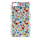 Shining Colorful Rhinestone Plastic Back Case for iPhone 4 / 4S