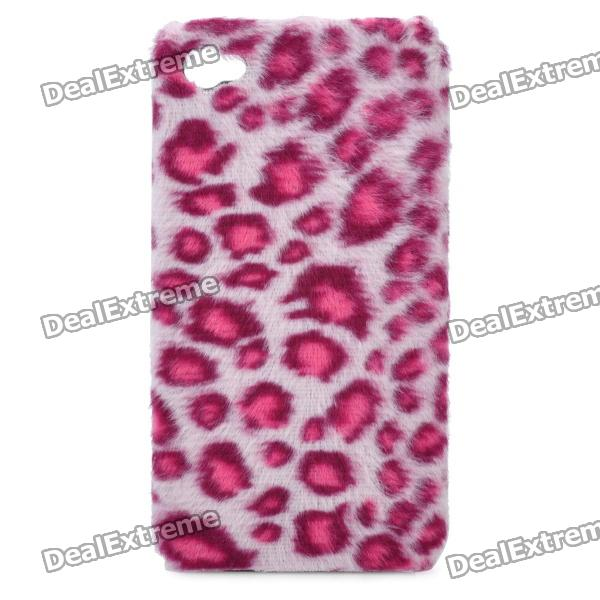 Stylish Leopard Style Protective Plastic Back Case for Iphone 4 / 4S - Pink cool skull head style protective soft silicone back case for iphone 4 4s pink
