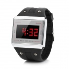 "1.3"" LED Digital Wrist Watch - Silver + Black (1 x LR626)"