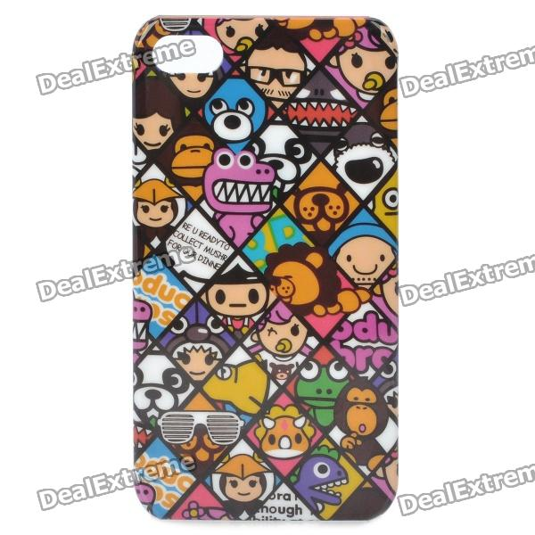 Stylish Cartoon Patterns Protective Plastic Case for Iphone 4