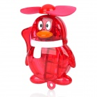 Penguin Style Handheld Portable Water Spray Cooling Fan - Red (1 x AA)