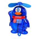 Penguin Style Handheld Portable Water Spray Cooling Fan - Blue (1 x AA)