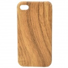 Protective Wood Grain Pattern Plastic Back Case for Iphone 4 / 4S - Wood Color