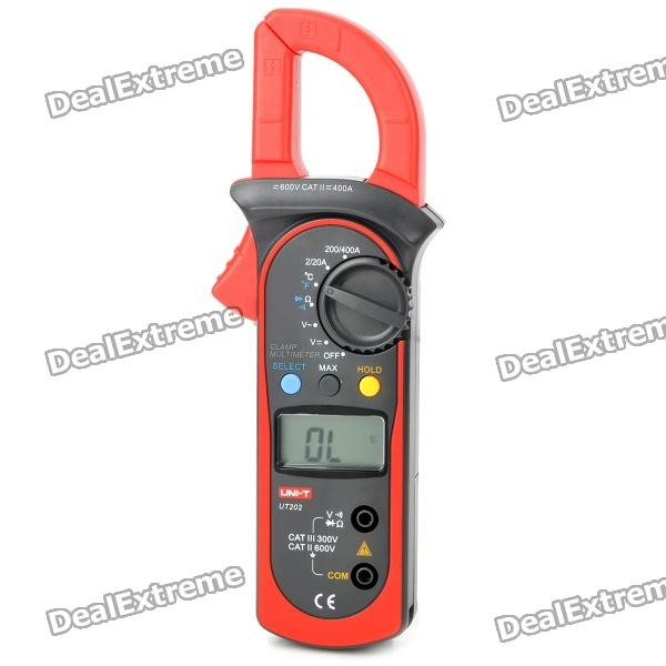 UNI-T UT202 1.5 LCD Digital Clamp Multimeter - Black + Red (2 x AAA) y clu брюки sp для мальчика by119 коричневый y clu