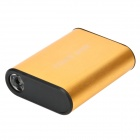 Portable 5000mAh External Battery Pack w/ Flashlight / Adapters for Cell Phone + More - Golden