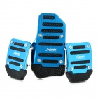 Non-slip Zinc-Aluminum Alloy M/T Car Pedal Pad Cover Set - Blue
