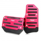 Non-slip Zinc-Aluminum Alloy A/T Car Pedal Pad Cover Set - Red