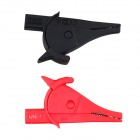 UNI-T UT-C02 Inline Test Alligator Clip - Red + Black (Pair)