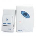 J306B 32-Melody Wireless Doorbell Transmitter + Receiver Set - White + Blue (1 x 23mA 12V / 2 x AA)