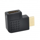 HDMI Male to Female Right Angle Adapter - Black