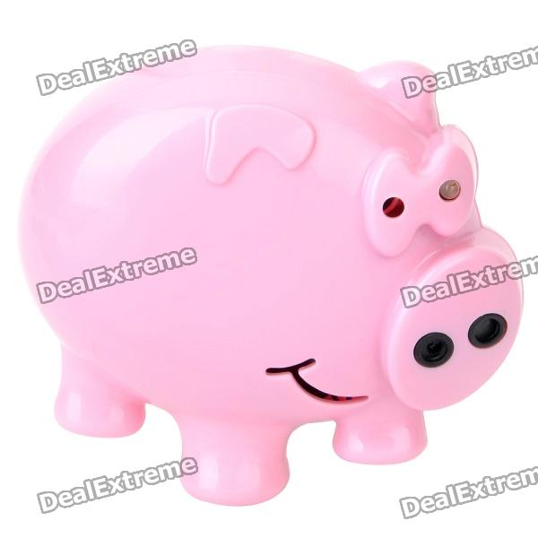 Cute Pig Style Mini Voice Recorder Fridge Magnet - Pink (3 x LR44) devices for hearing mini digital hearing aid voice recorder minds aparelho auditivo 6 canais s 16a free shipping