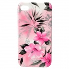 Morning Glory Pattern Protective Plastic Back Case for Iphone 4 / 4S - Pink