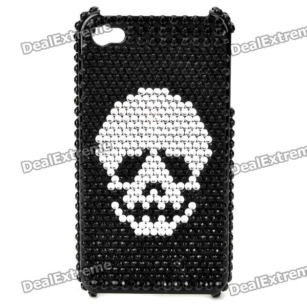 Stylish CrystalProtective Plastic Back Case for Iphone 4 / 4S - Black luxury bling crystal back case for iphone 4 4s black