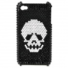 Stylish CrystalProtective Plastic Back Case for Iphone 4 / 4S - Black