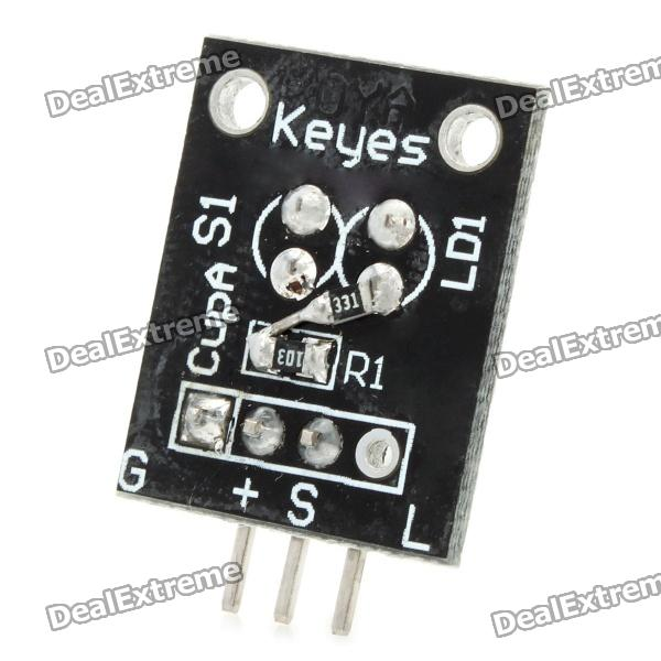 Photo Interrupter Sensor Module for Arduino (Works with Official Arduino Boards) cg311 ds18b20 temperature sensor module for arduino works with official arduino boards