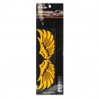 Cool Wing Style Reflective Car Sticker - Yellow