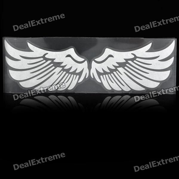 3D Angle Wings Feather Car Auto Sticker Decal - Silver bbq fuka aluminum auto pininfarina disegno emblem badge styling sticker fit for chevy hyundai lexus ct200 car decal