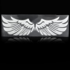3D Angle Wings Feather Car Auto Sticker Decal - Silver