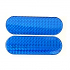 Car Vehicle Safety Reflective Stickers - Blue (Size-L / Pair)