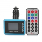 "M1 1,4 ""-LCD-MP3-Player FM Transmitter w / USB / TF / SD - Blau + Schwarz (DC 12 ~ 24V)"