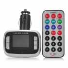 "M2 1,4 ""-LCD-MP3-Player FM Transmitter w / USB / TF / SD - Silber + Schwarz (DC 12 ~ 24V)"