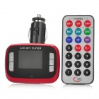 "M2 1.4"" LCD MP3 Player FM Transmitter w/ USB / TF / SD - Red (DC 12~24V)"