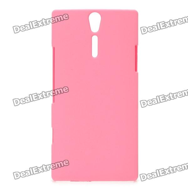 Protective Matte PC Back Case w/ Screen Protector for Sony LT26i - Pink nillkin protective matte plastic back case w screen protector for iphone 6 4 7 brown