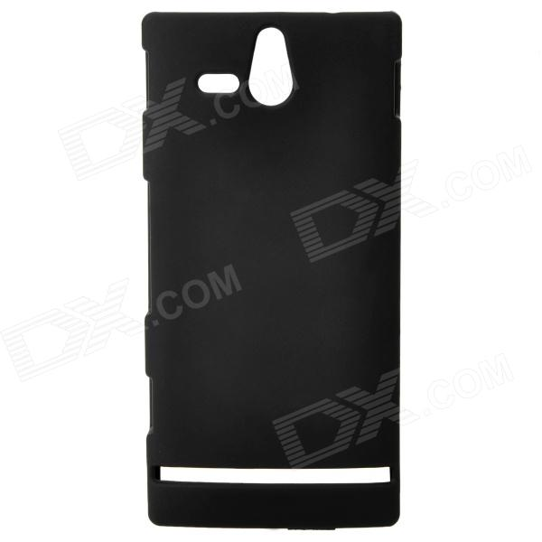 Protective Matting Plastic Back Case for Sony Ericsson ST25i - Black sony ericsson t700i красный магазины