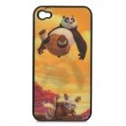 3D Kung Fu Panda Pattern Protective Back Case for iPhone 4 / 4S - Multi-color