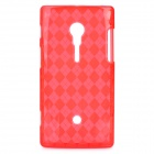 Protective TPU Case for Sony Ericsson LT18i - Red