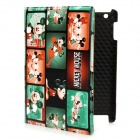 Cute Mickey Mouse Pattern PU Leather Case w/ Swivel Holder / Smart Cover for the New iPad - Green