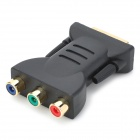 DVI 24+5-Pin Male to 3 RCA Female Adapter - Black