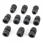 PG11 Water Resistant Cable Glands - Black (18.6mm / 10-Pack)