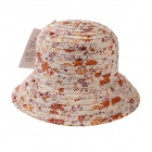 Stylish Bucket Hat Cap for Women - Orange + White