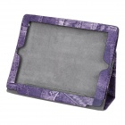 Creative Jeans Style Protective PU Leather Case for Ipad 2 / New Ipad - Purple