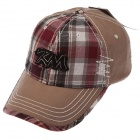 Stylish Plaid Baseball Hat Cap - Light Tan