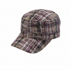 Trendy Ms. Plaid Flat-Topped Hat Cap
