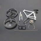 1:8 Educational DIY Assembly Racing Bicycle Bike Model - White + Black