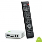 AVT300 1080P Android 2.2 Network Media Player w/ 2 x USB / SD / HDMI / LAN / AV-Out - White (2GB)