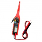 "1.8"" LCD Car Auto Automobile Circuit Detector Tester with Multimeter Function - Red (2 x AA)"