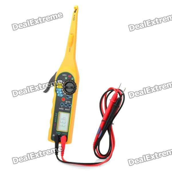1.8 LCD Car Auto Automobile Circuit Detector Tester with Multimeter Function - Yellow (2 x AA) стоимость