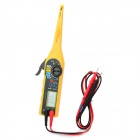 "1.8"" LCD Car Auto Automobile Circuit Detector Tester with Multimeter Function - Yellow (2 x AA)"